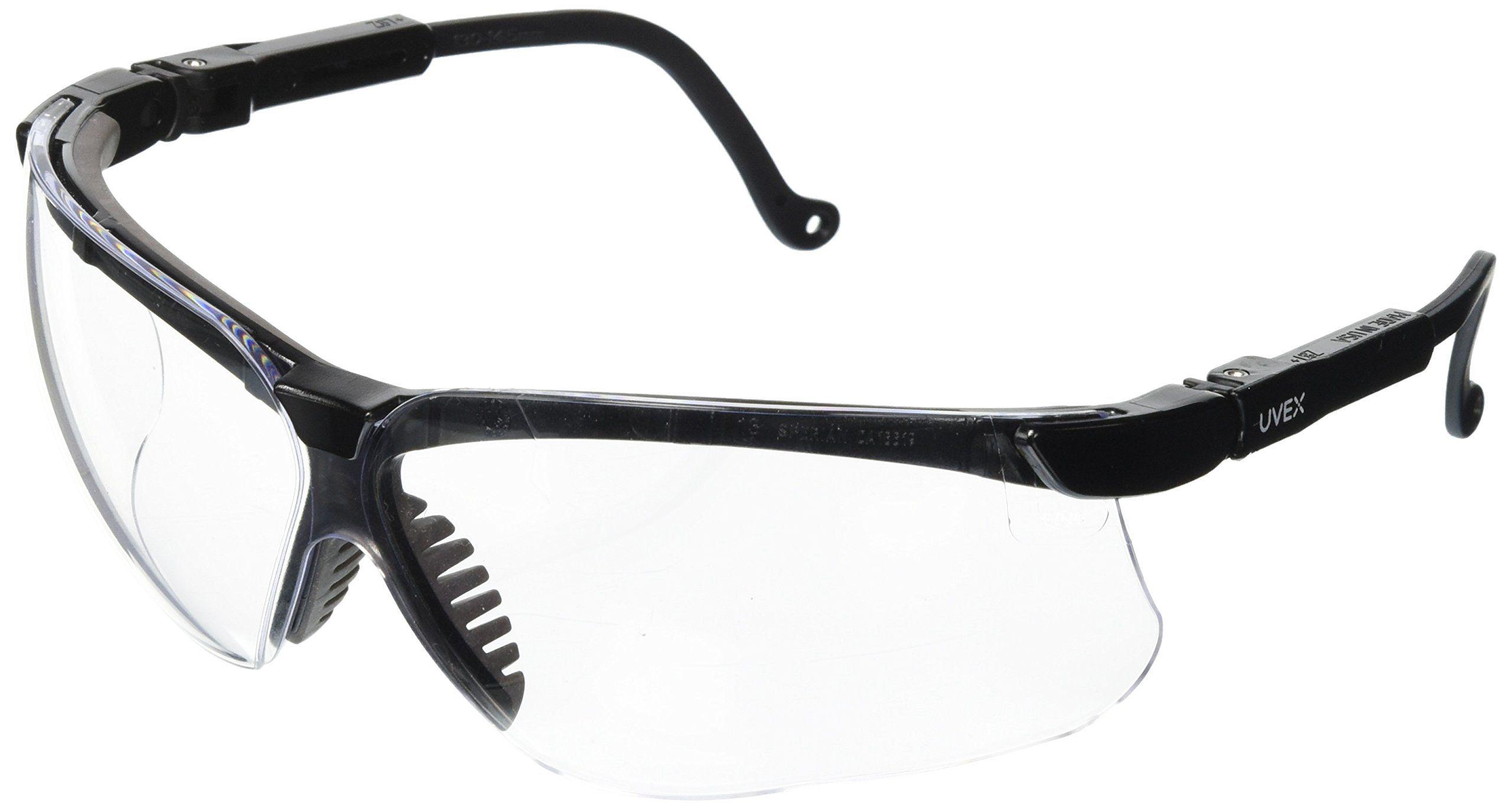 Uvex S3200 Genesis Safety Eyewear Black Frame Clear