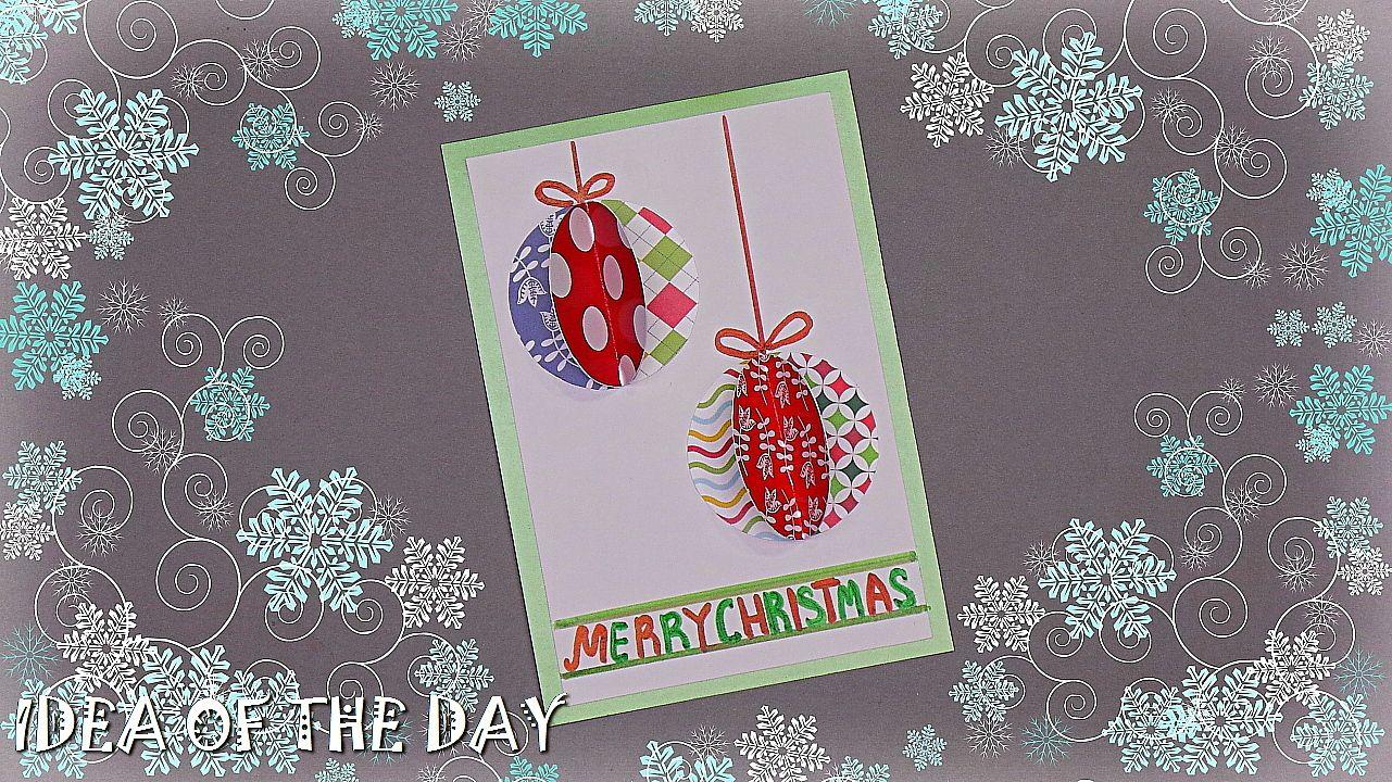 How To Make Simple Christmas Card Handmade Christmas Greeting Card