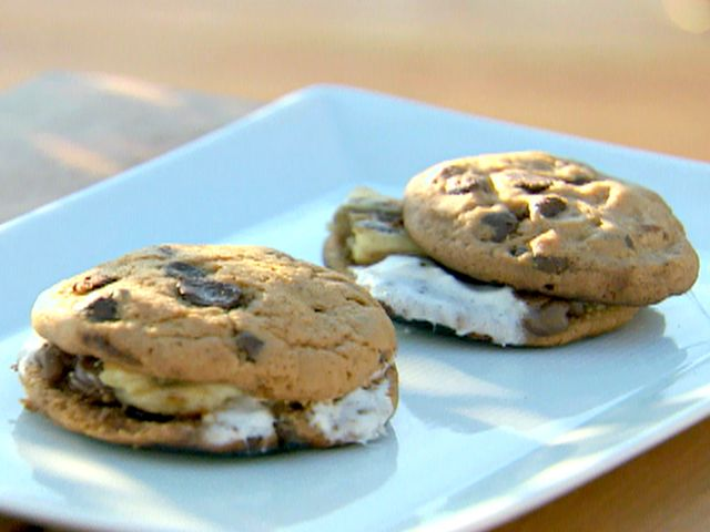 Food Network invites you to try this Chocolate Chip Cookie S'mores recipe from Paula Deen.