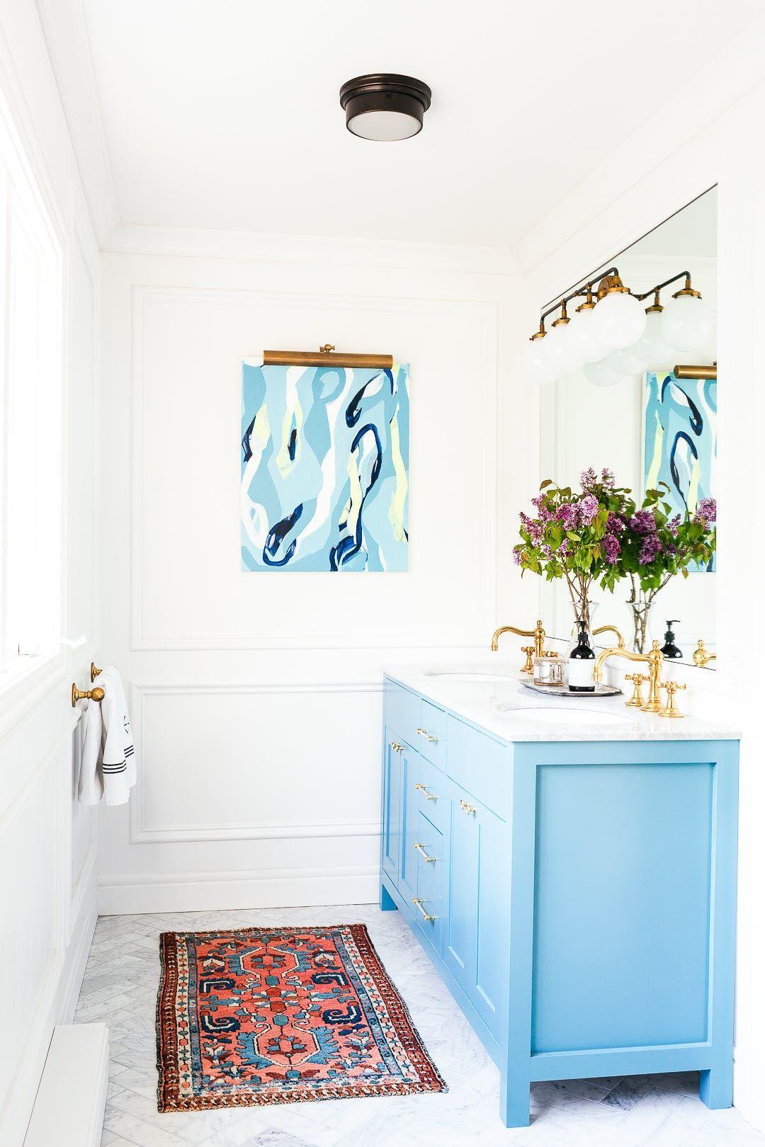 An eclectic home in coastal connecticut bathroom decor diy