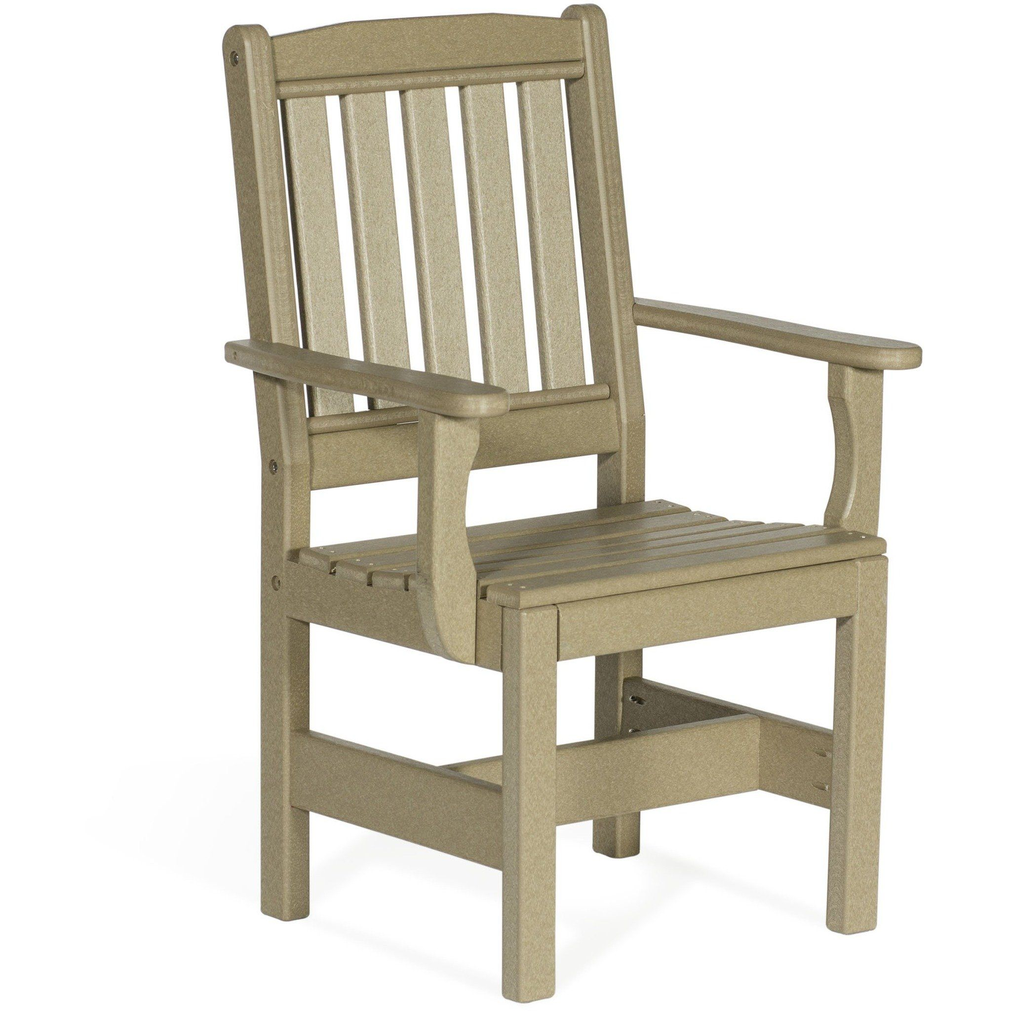 Leisure Lawns Amish Made Recycled Plastic English Garden Chair