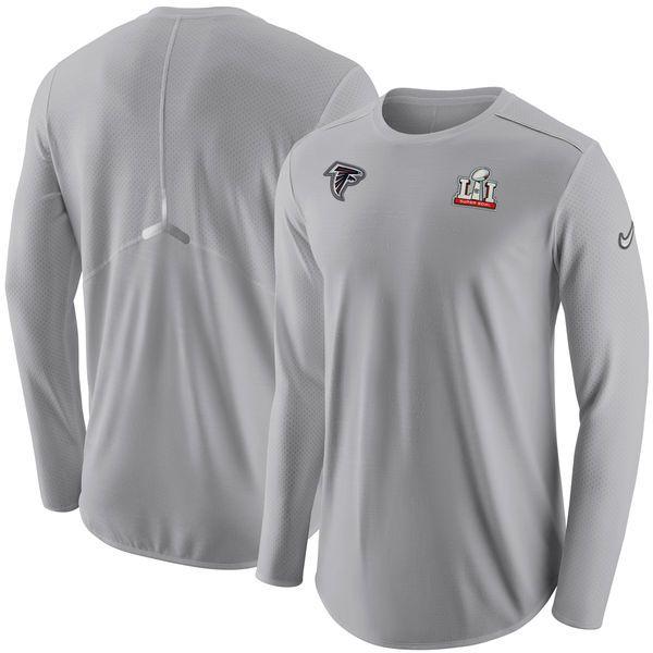 Atlanta Falcons Nike Super Bowl LI Bound Media Day Performance Long Sleeve T -Shirt - Gray - Fanatics.com 1082b64f4