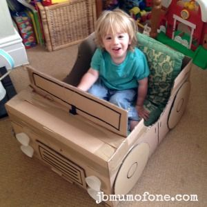 Make Toddler Very Happy How To Make A Cardboard Box Car Little