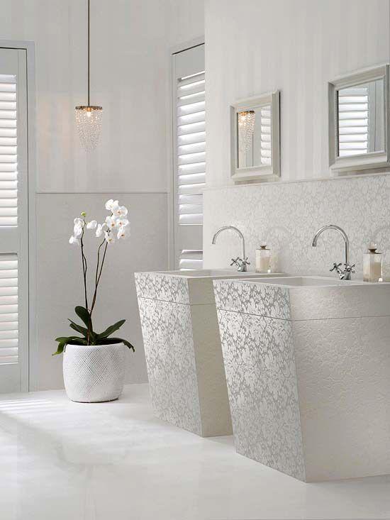 Coole Deko in Weiß - Was auch immer Ihr Stil ist, kann die weiße - dekoideen badezimmer farbe braun und wei