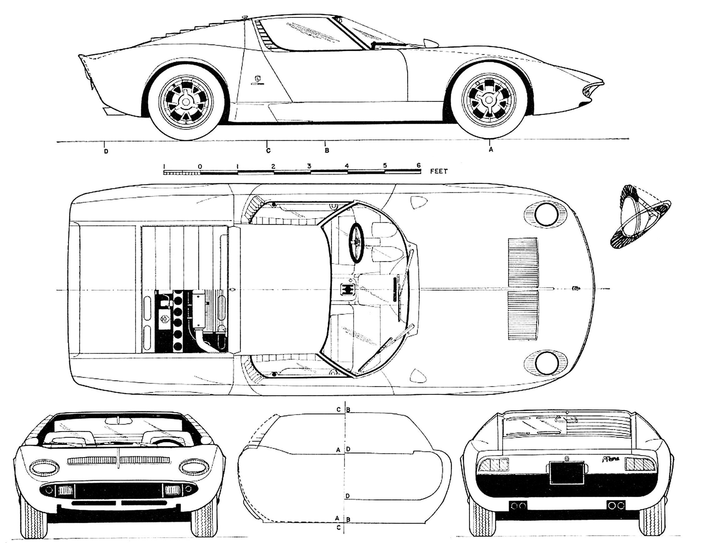 Lamborghini Miura Lamborghini Miura Lamborghini Dibujos De Autos
