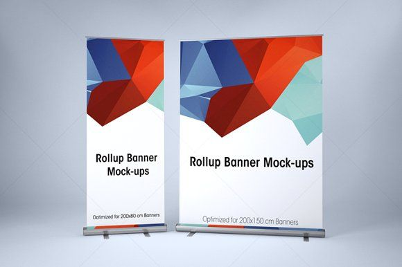 Roll up banner mockup free