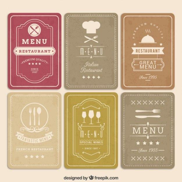 Download Retro Menu Cards For Free Menu Card Design Vintage Menu Restaurant Menu Template