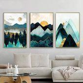 Mountain Sun Mountain Poster Tienda en línea Mountain Sun Abstract Geometric Mounta