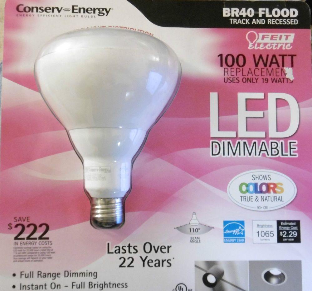 Feit Electric Led Dimmable Br40 Flood Energy Efficient Light Bulb 100 Watt B19 Feitelectric Bulb Led Light Bulb