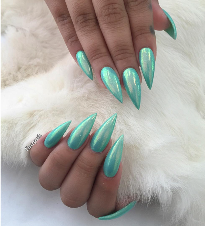 mermaid nails effect guide | Nail Art! | Pinterest | Mermaid nails ...