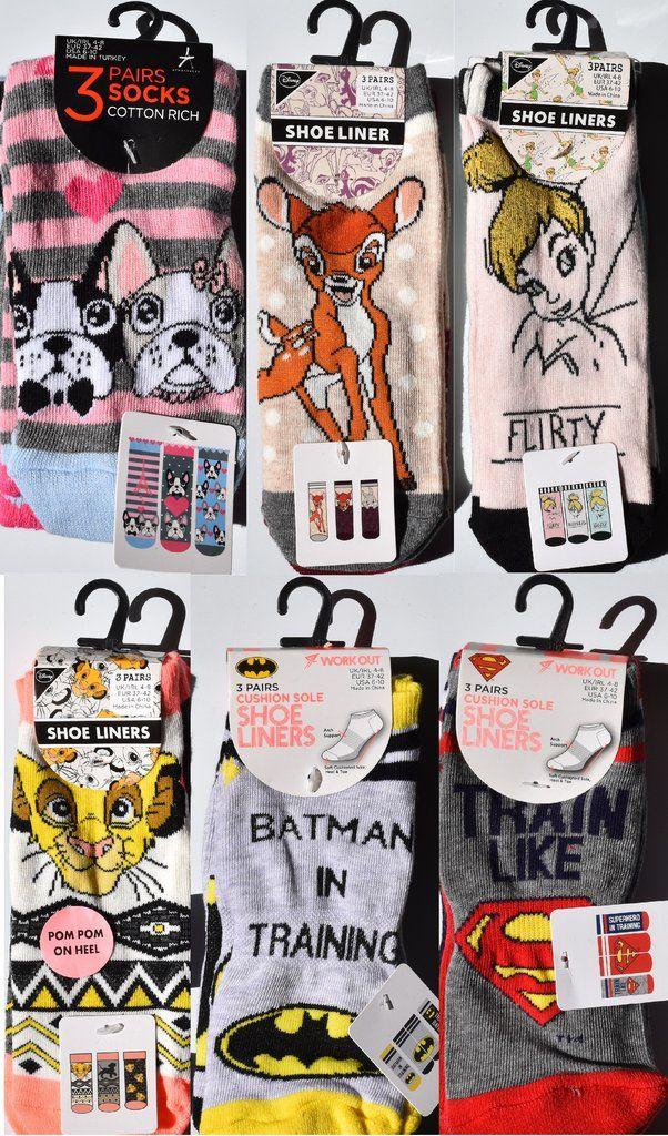 primark women s socks shoe liners bambi tinkerbell lion king superman batman