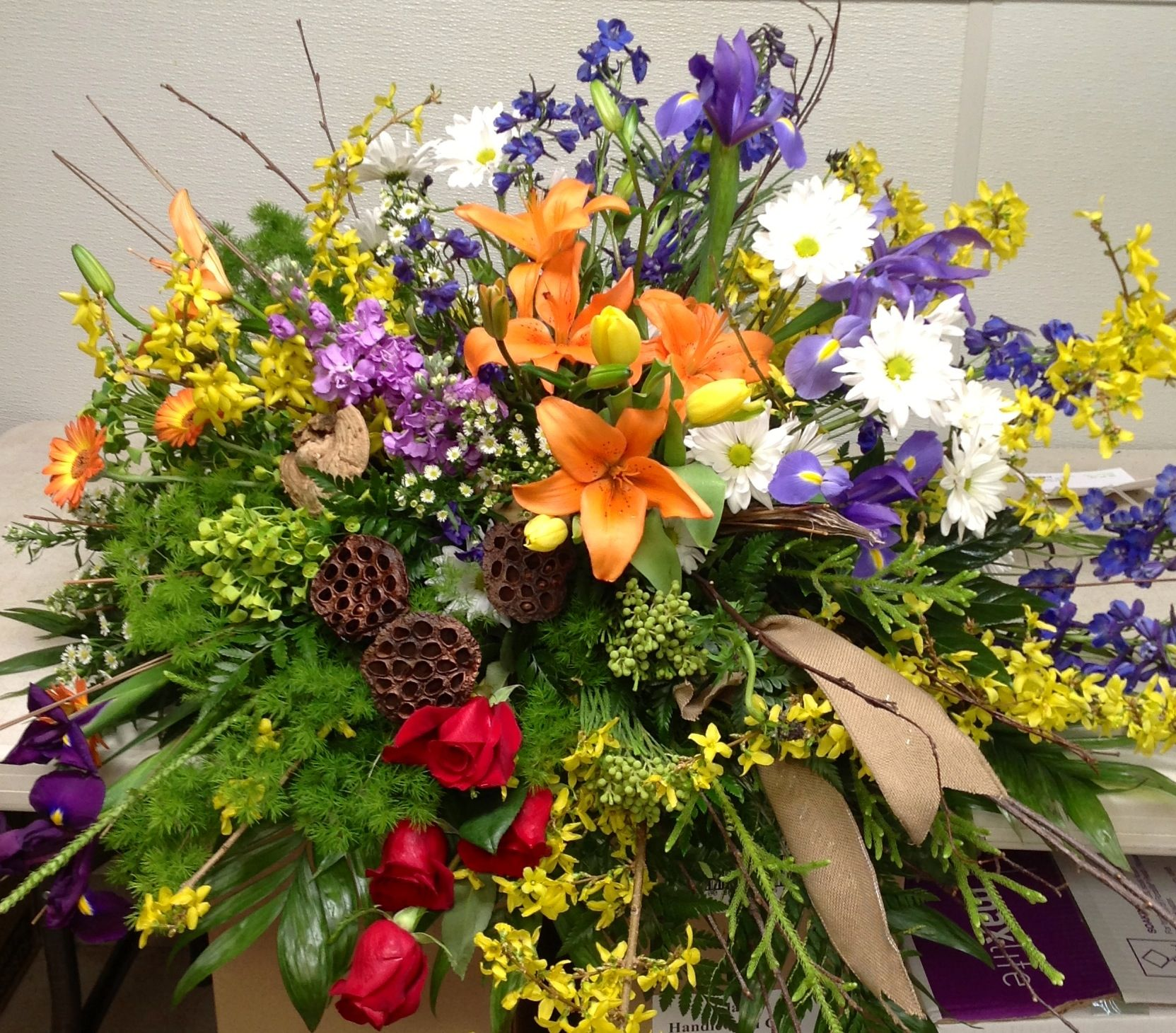Banner flower house funeral flowers pinterest funeral and banner flower house izmirmasajfo Image collections
