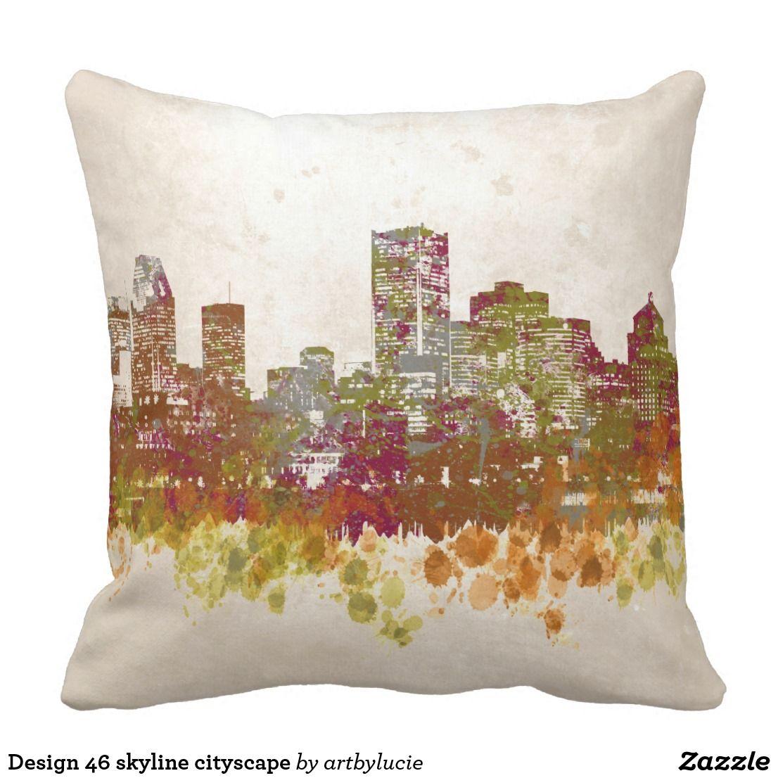 Design skyline cityscape throw pillow Throw PillowsCushion