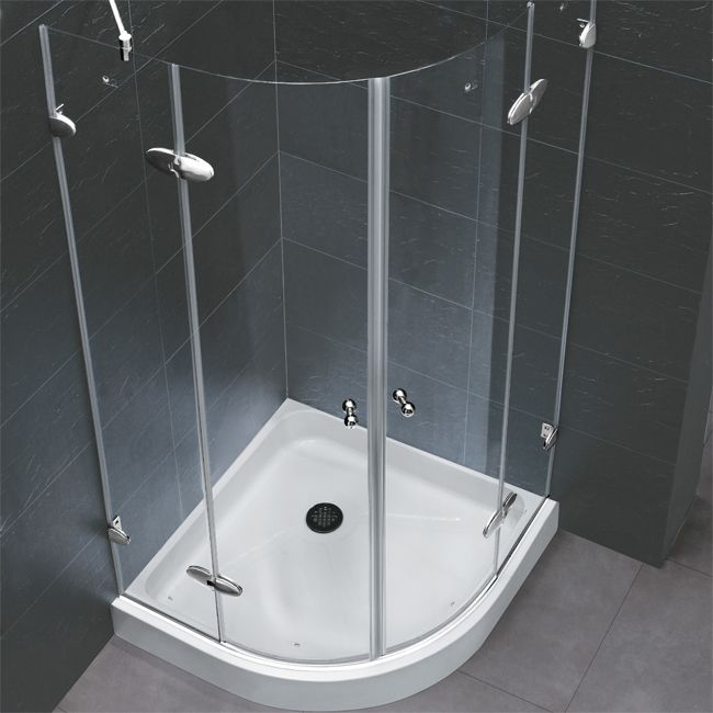 Vigo 40 x Frameless Neo Round Shower Enclosure 36 Neoround  double doors Overall Dimensions 1 8 W