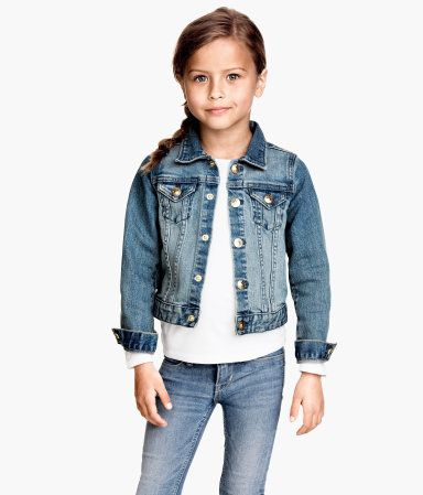 625b368ed3 H and M little girl denim jacket (good look for Ashe. including the side  braid)