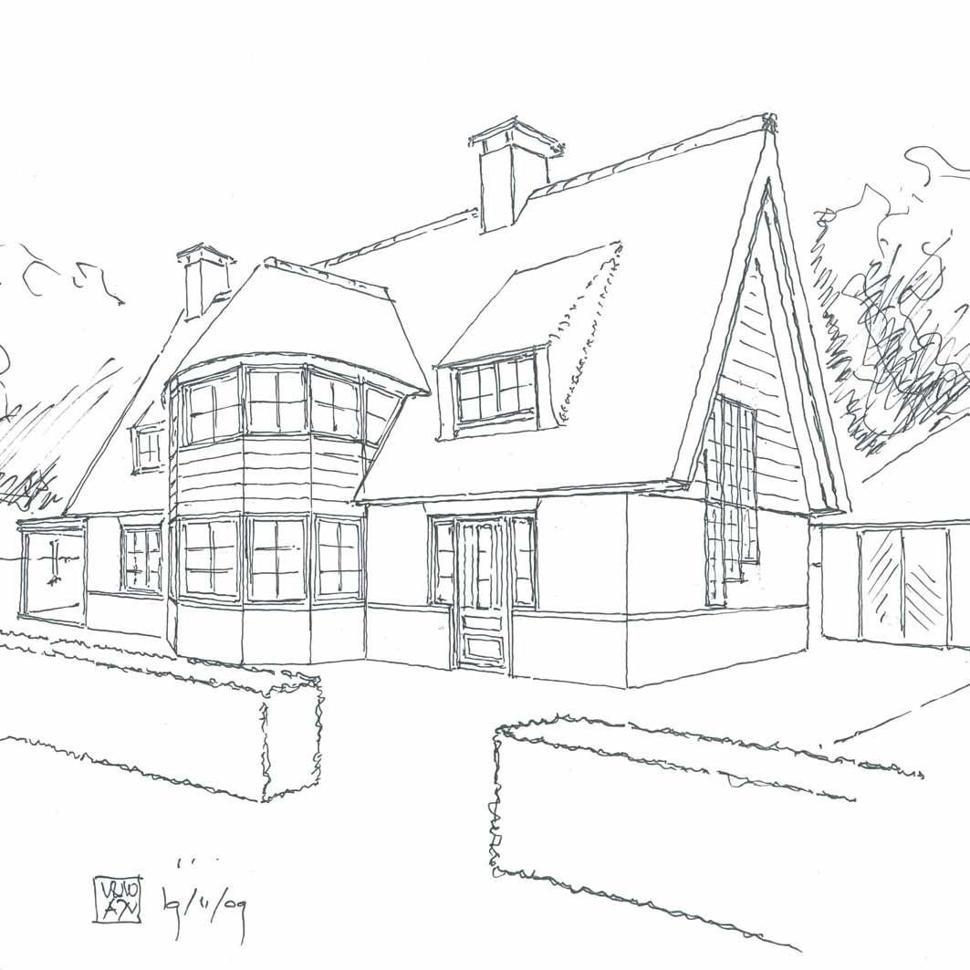 een huis in perspectief ik vind het erg mooi getekend
