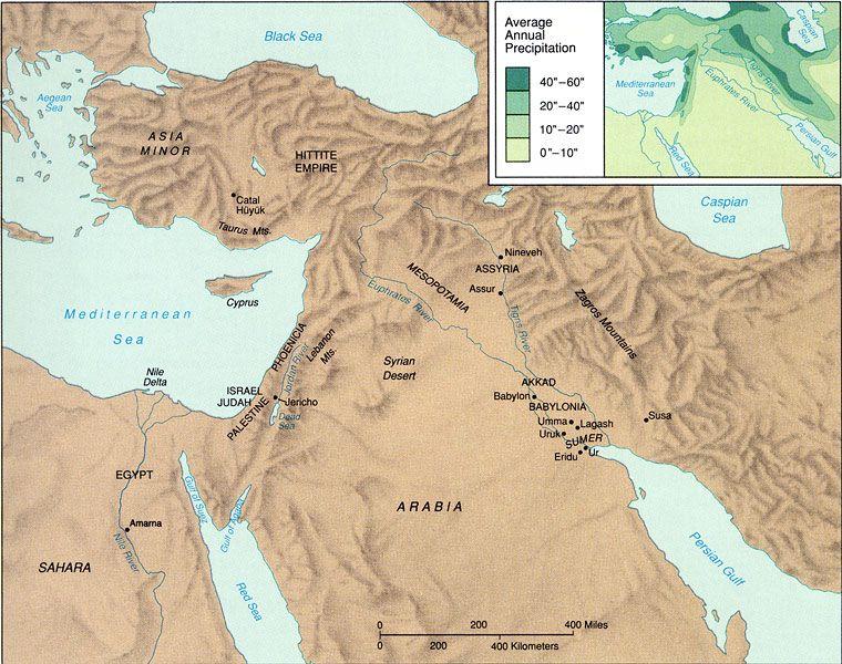 Map of The Fertile Crescent Sumerians Pinterest