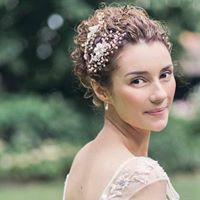 For bridal hair & makeup for UK & destination weddings, do get in touch. www.patriciasoper.com    Very pretty bridal updo with double hairpieces worn to one side.