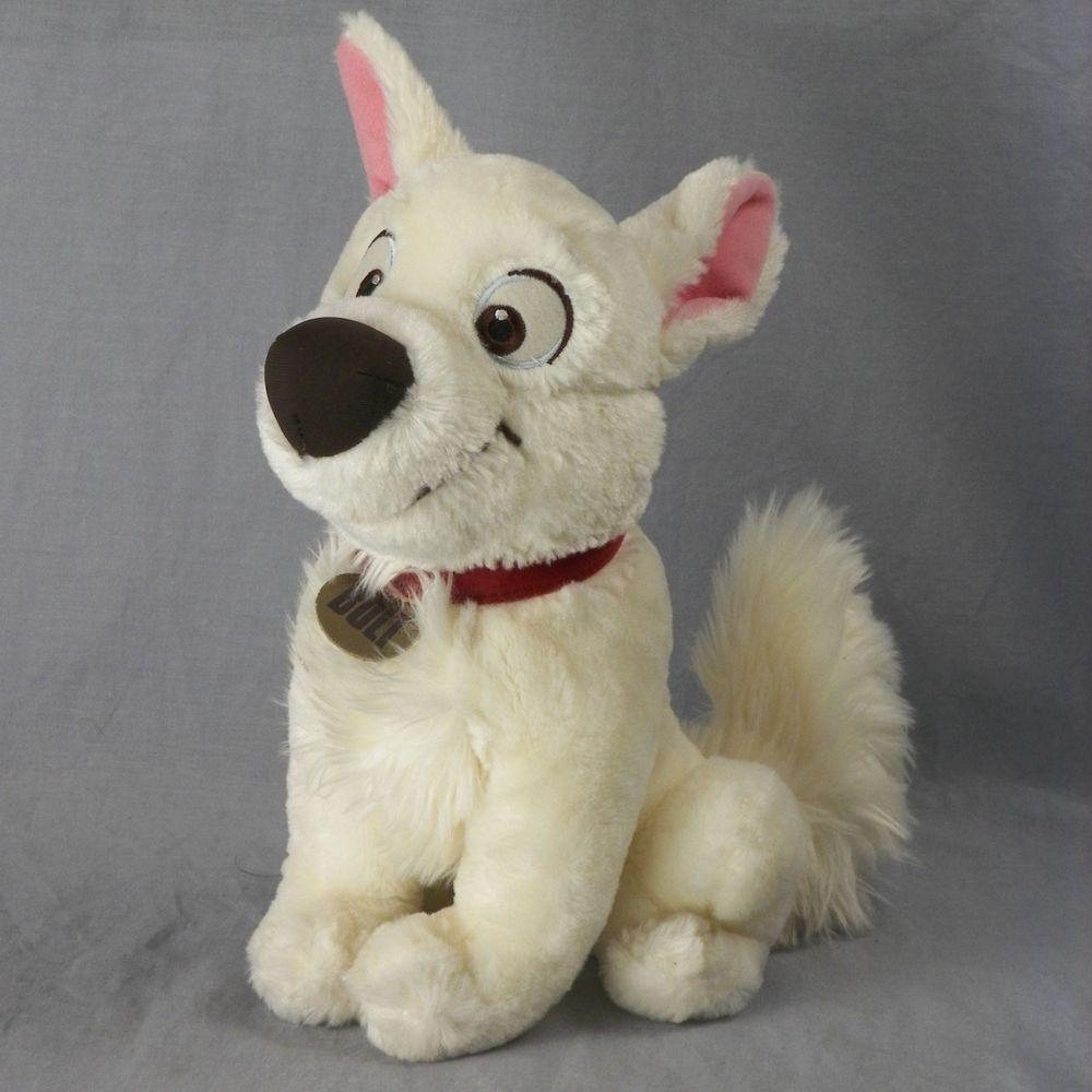 Bolt The Super Dog Disney Plush Toy 12 Stuffed Animal Sitting