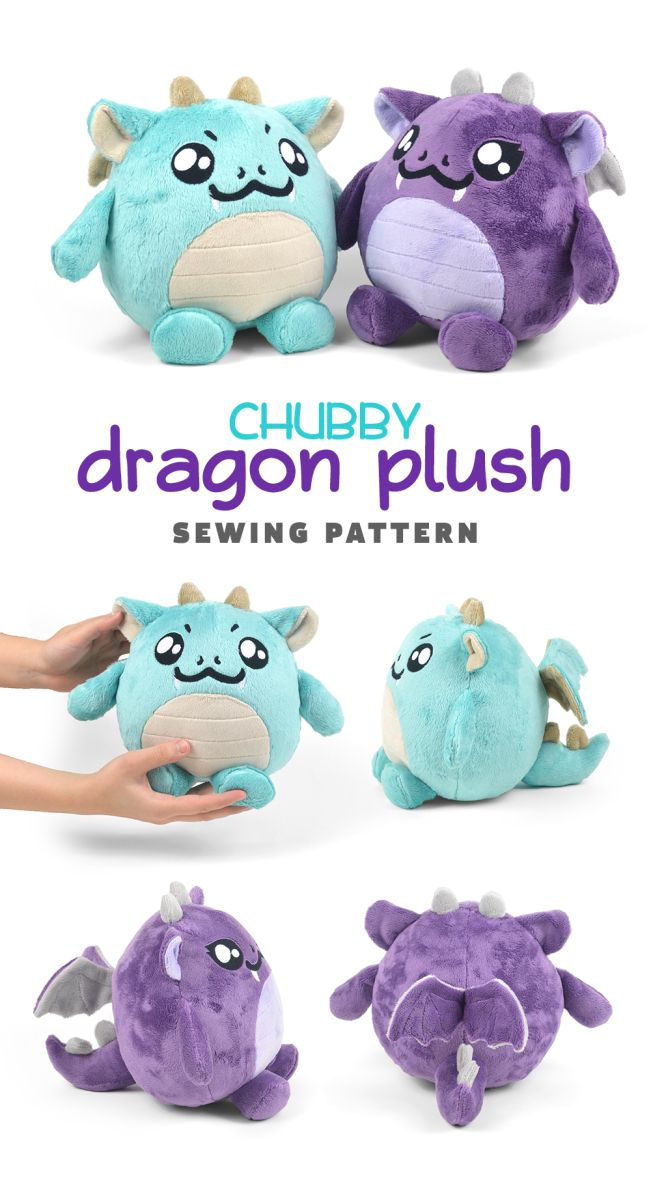New Shop Pattern! Chubby Dragon Plush | Crafting | Pinterest ...