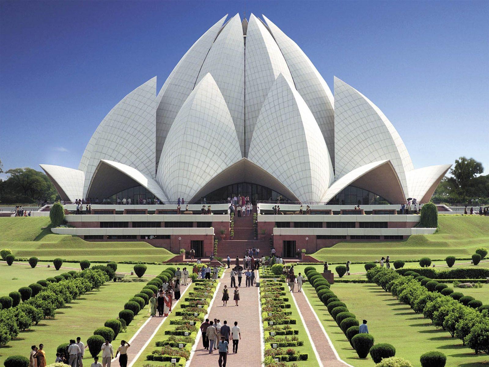 Lotus Temple in India: photos and description 72