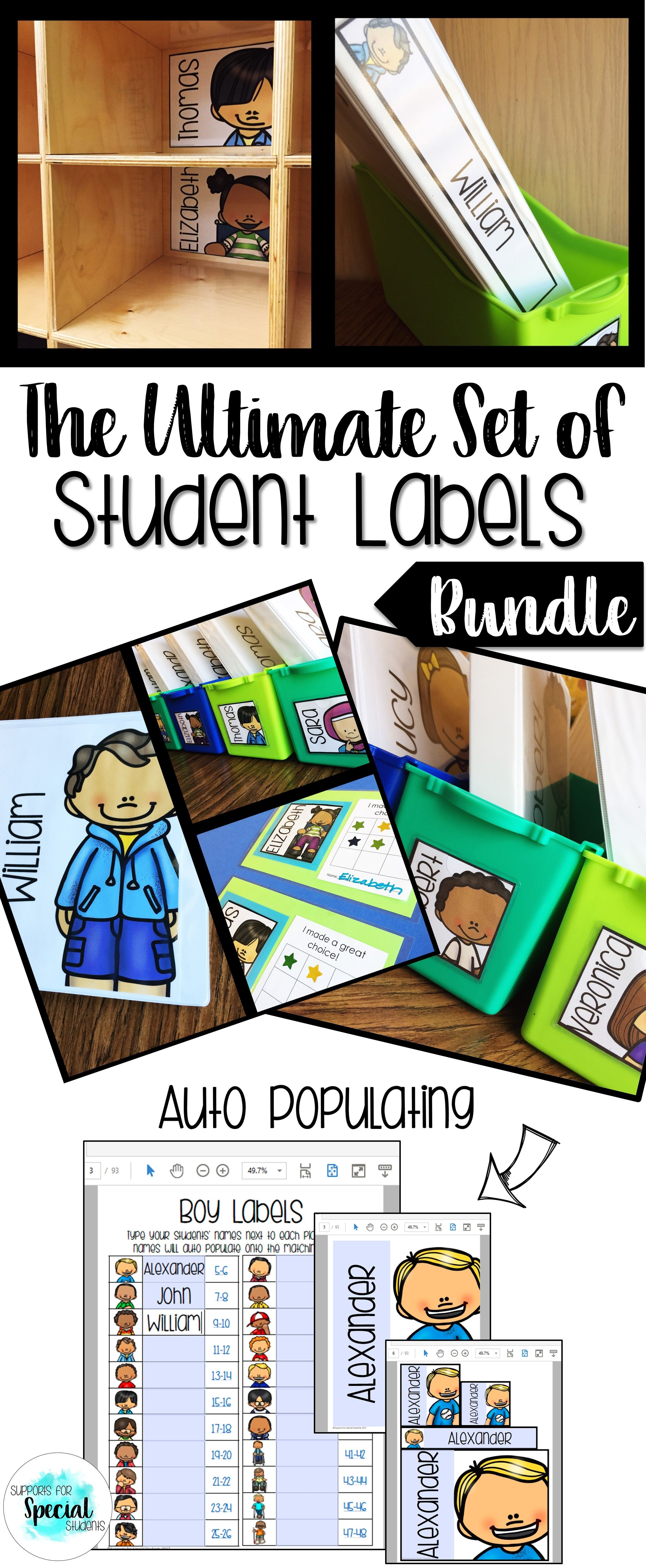The Ultimate Set of Student Labels Bundle Fits all Tar labels