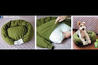 Make Your Own Pet Bed With An Old Sweatshirt
