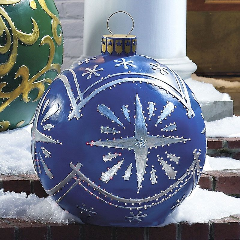Large Outdoor Christmas Ball Ornaments | outdoor ornaments ...