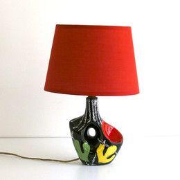 lampe en cramique style vallauris wwwbaosfr concept store vintage et contemporain - Baos Vintage