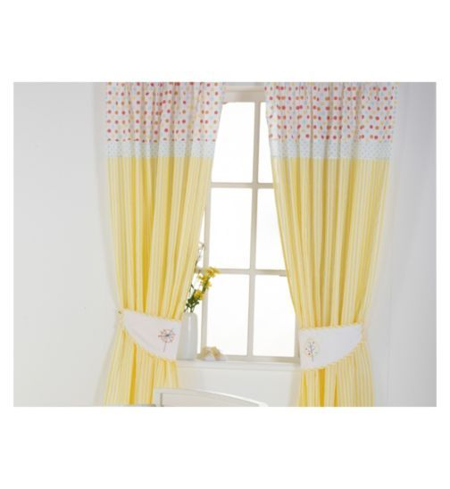 Style Of Bed e Byes Sunshine Safari Tape Top Curtains 132 x 160cm Photo - Unique Nursery Curtains Simple Elegant