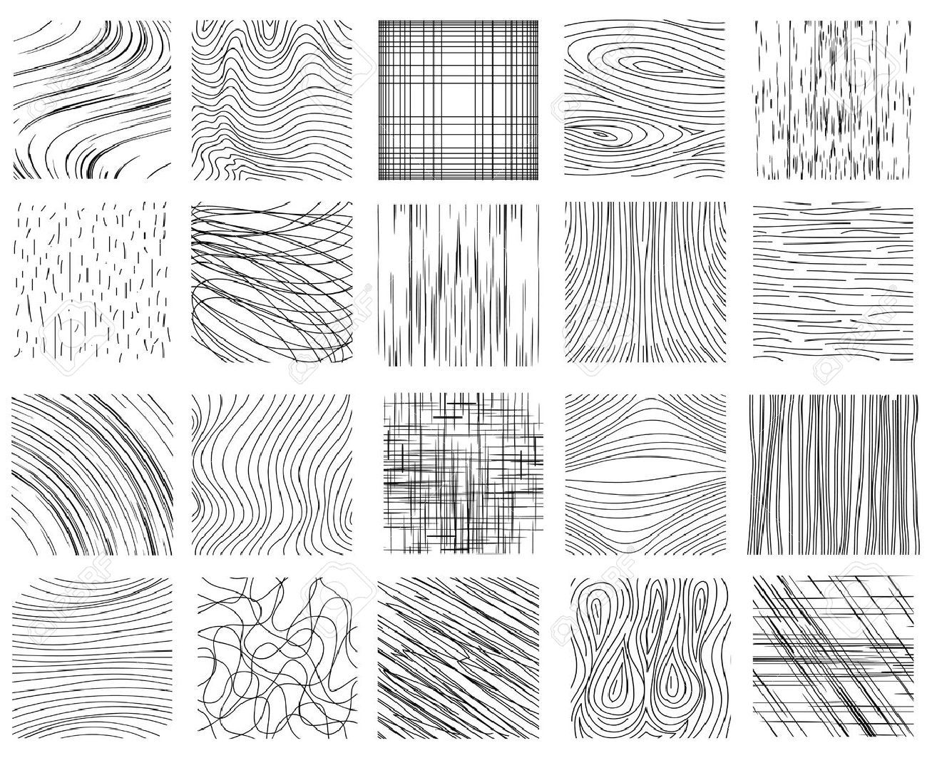 Hand Drawn Ink Line Textures Set Of Design Abstract Background Texture Drawing Line Texture Abstract Backgrounds