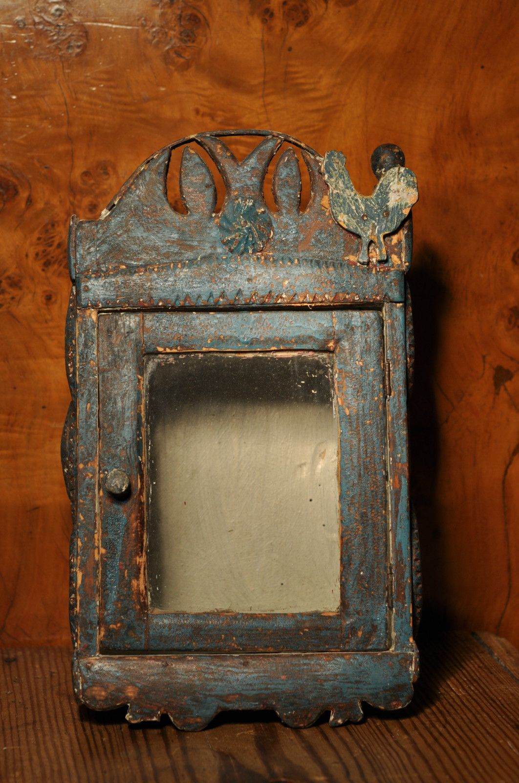 Details About Antique Primitive Wall Display Cabinet Tramp