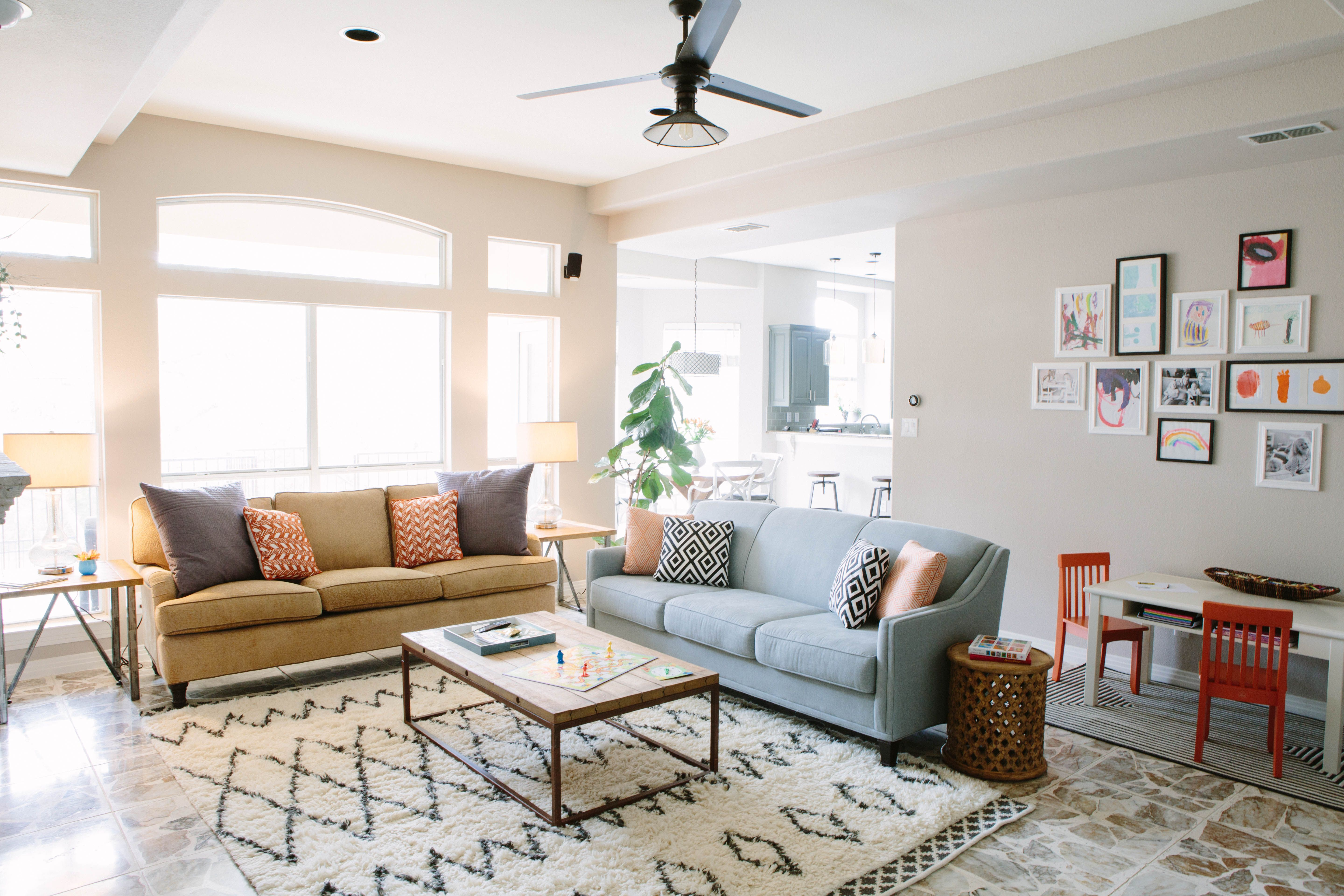 how to create a kid friendly family room and keep things separate