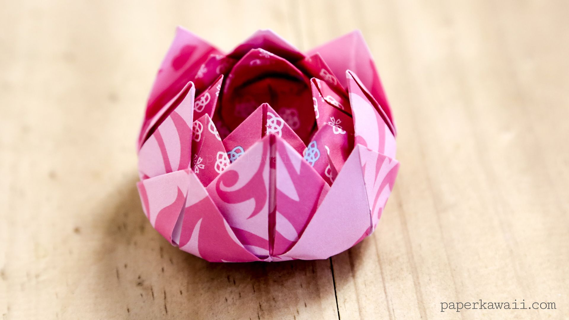 Traditional origami lotus instructions mio pinterest origami learn how to make a pretty traditional origami lotus flower easy to follow video instructions mightylinksfo