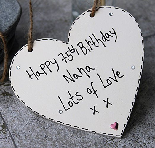 Birthday Gifts : MadeAt94 Handmade Gift Heart Plaque Happy