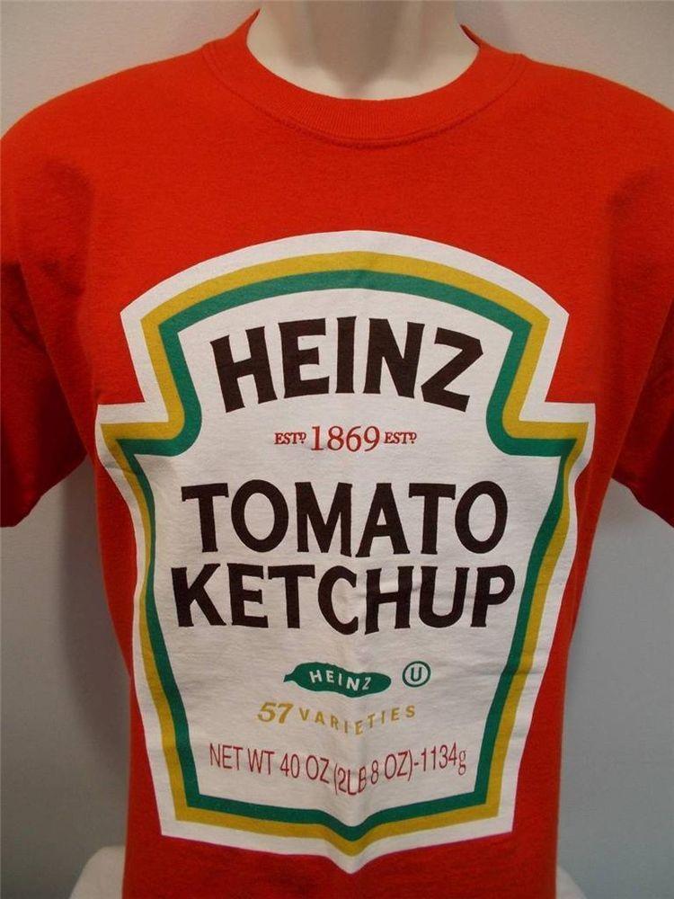 Heinz Ketchup Mens Short Sleeve Red T Shirt Size Medium