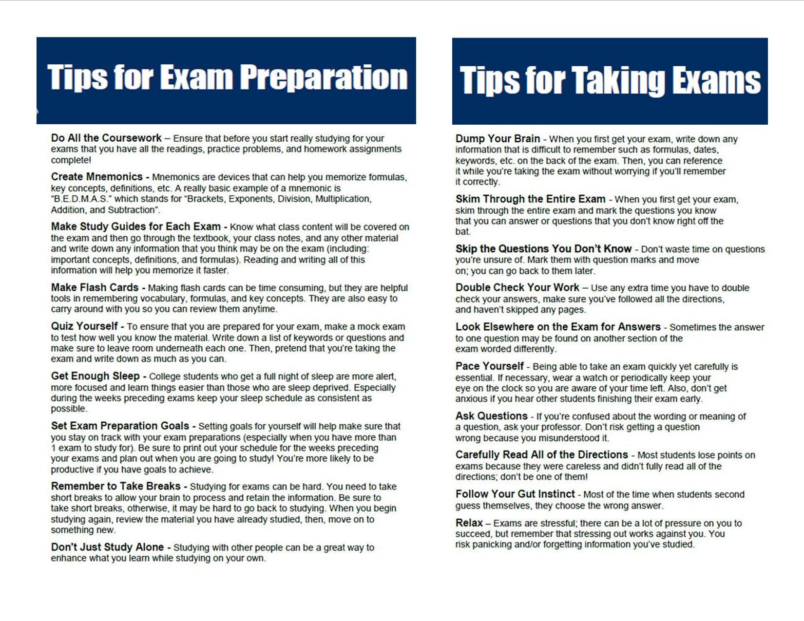 Buy Essay Exams Tips Exam Preparation Tips Take Exam