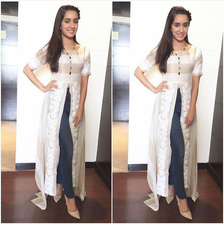 Shraddha Kapoor  Kurti Fusion  Love For White  Indian -7623