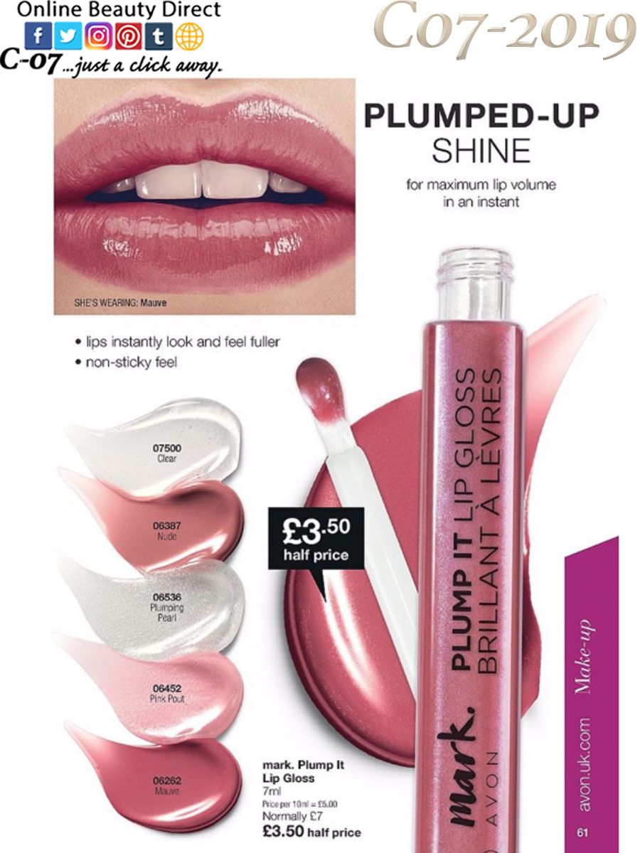 5b79314a6e5 Give your lips that just-bitten, XXL lip look with our mark. Plump ...