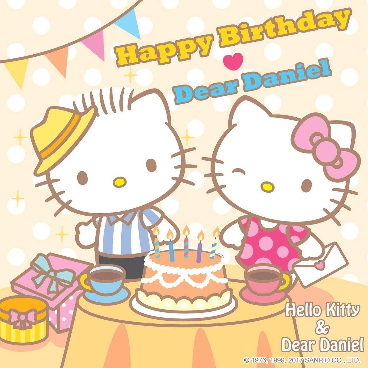 Happy Birthday Dear Daniel Hello Kitty
