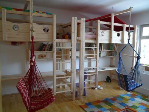 Etagenbett Mit Babybett : Hochbett haus mit rutsche spielbett schan