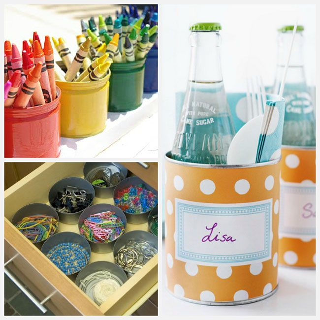 Tin Can Crafts 22 Fun Ideas That Are Thrifty Quick And Easy Tin Can Crafts Can Crafts Crafts