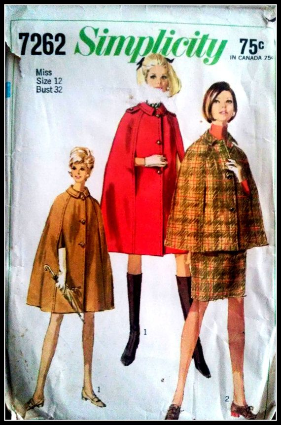 Simplicity 7262  Misses' Cape in two lengths by ThePatternShopp, $10.00