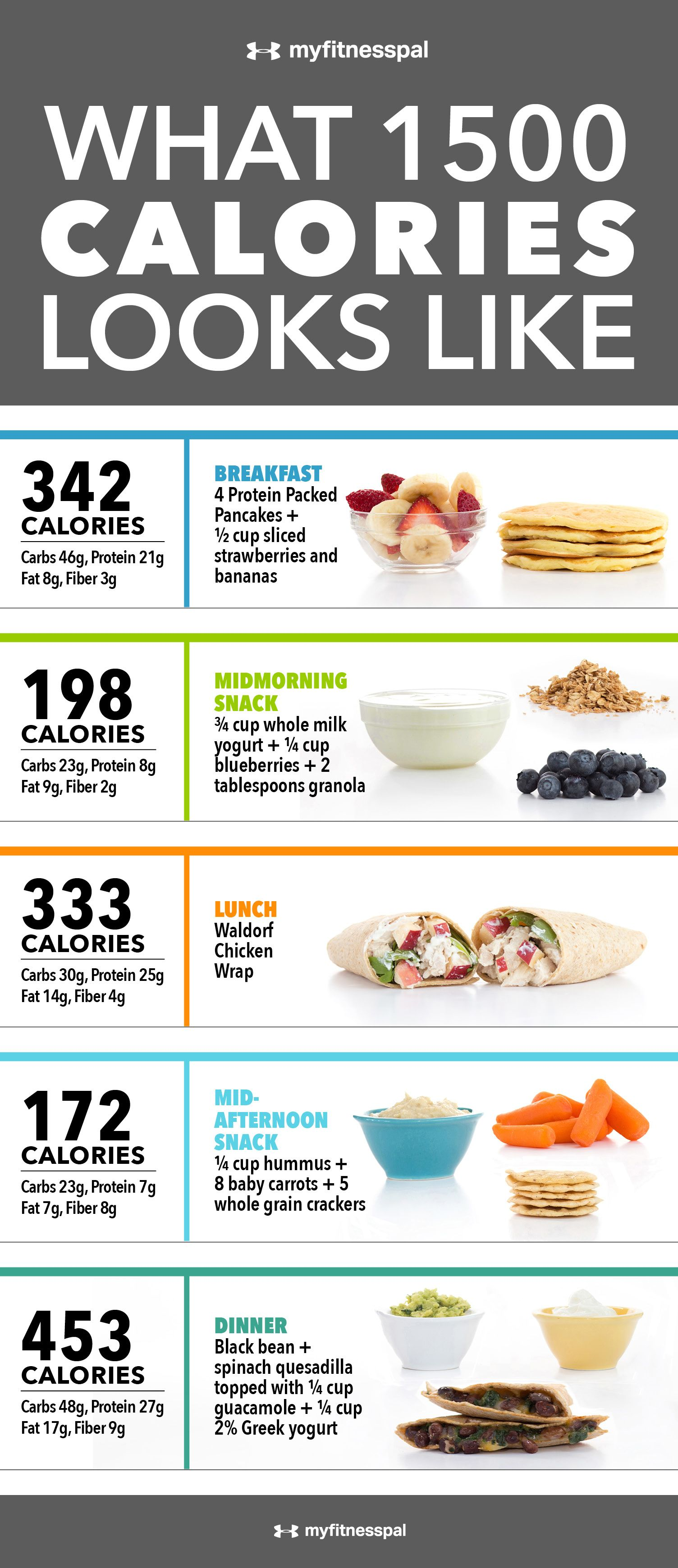 What 1 500 calories looks like infographic for Fish only diet