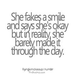 Smile Quote Faking A Smile Quotes  Google Search  I Am Not Alone Pinterest