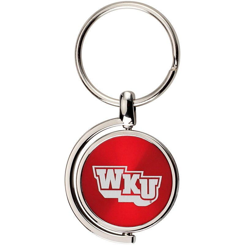 Western Kentucky Hilltoppers CD Effect Spinner Key Tag
