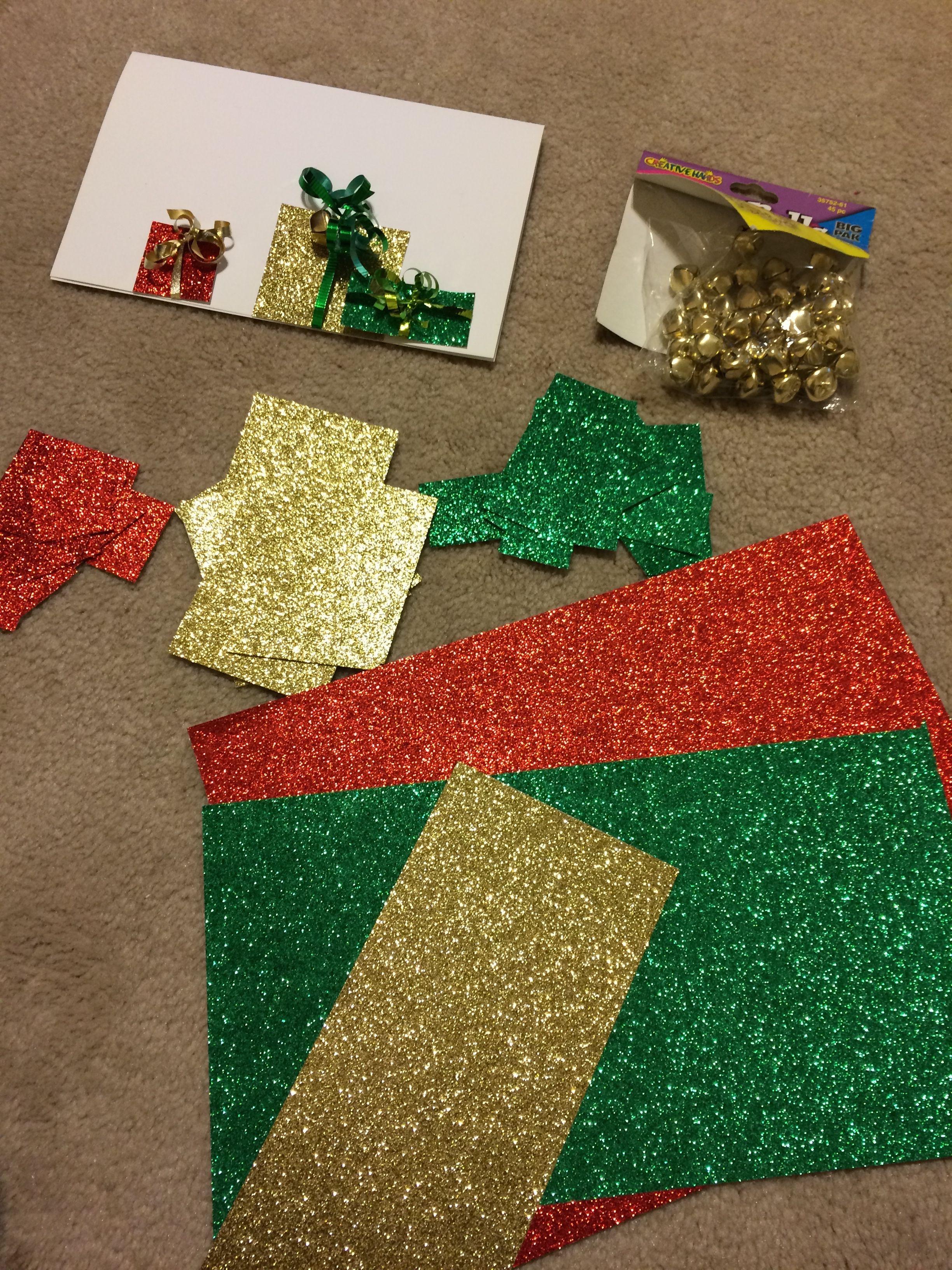 Image result for handmade christmas bells cards