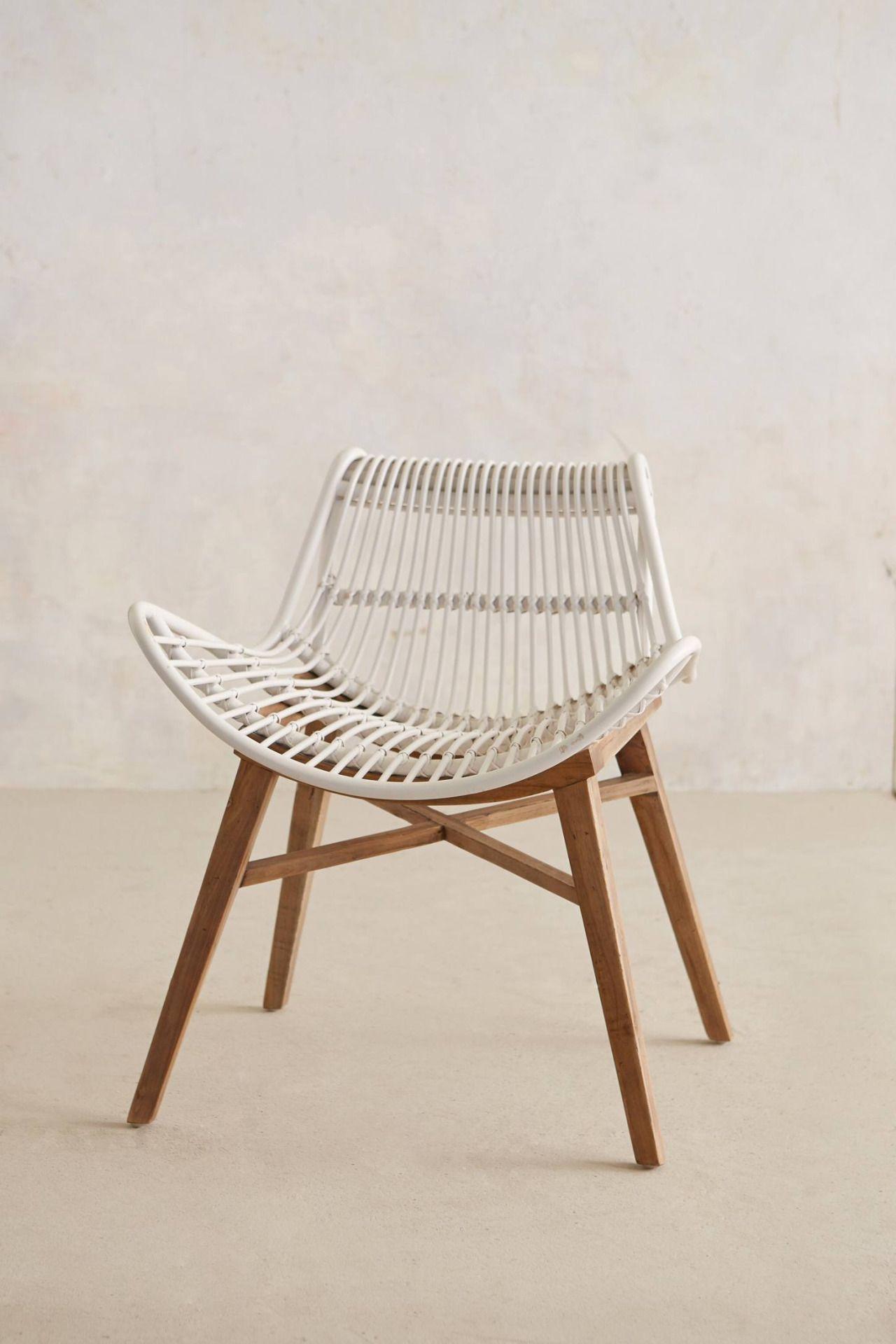 Scrolled rattan chair Anthropologie wish list