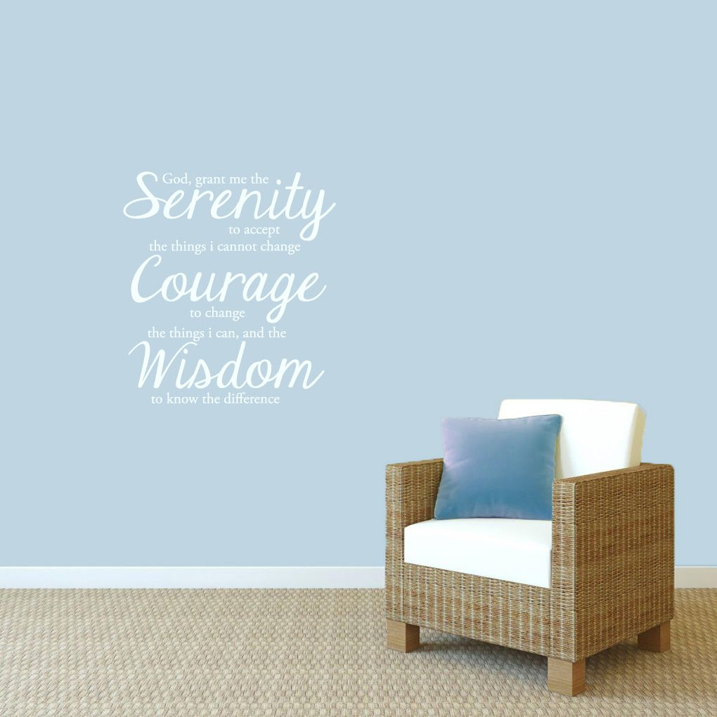 serenity prayer wall decals home dcor wall decals