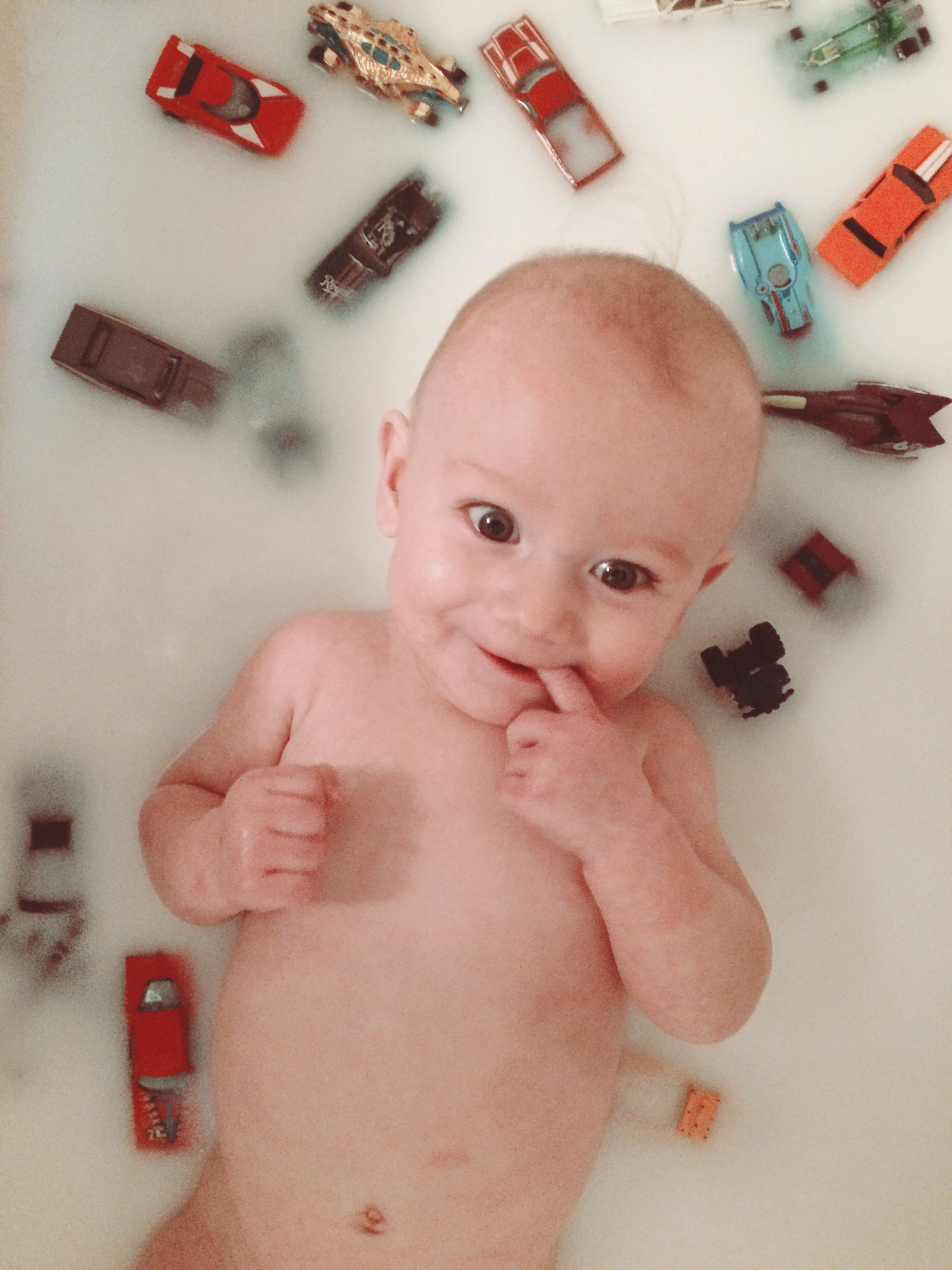 Baby boy 6 month milk bath. Breastfeeding milestone. | Baby ...